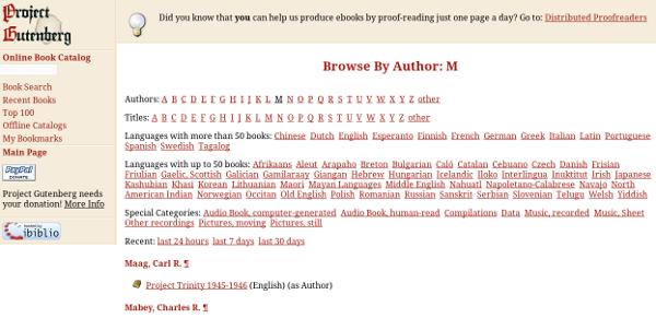 Screenshot Project Gutenberg-US