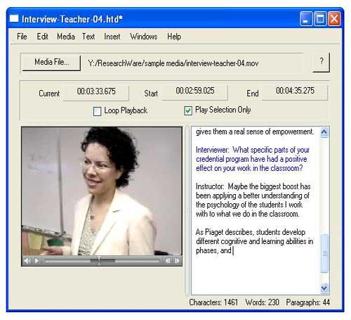 Screenshot HyperTranscribe