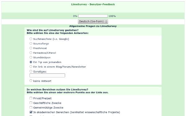 Screenshot Limesurvey