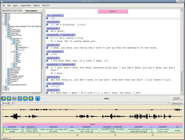 Screenshot TranscriberAG