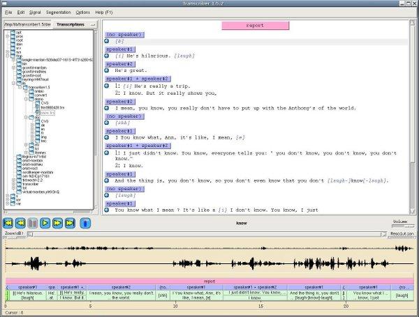 Screenshot TranscriberAG