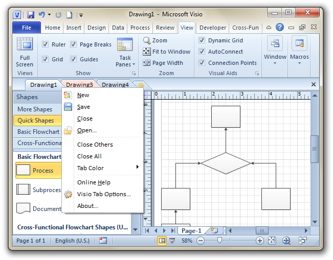 Screenshot Visio