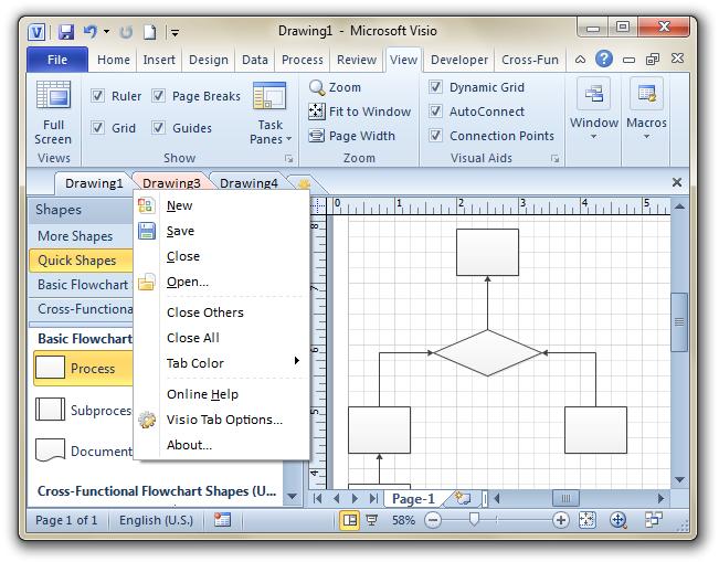 Screenshot Visio
