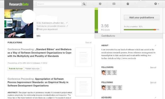 Screenshot ResearchGate